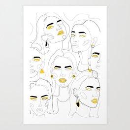 In Mustard Art Print