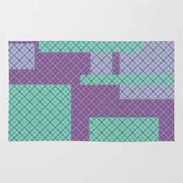 Lilac , turquoise , patchwork Rug