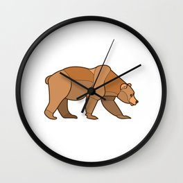 Shapely Brown Bear Wall Clock