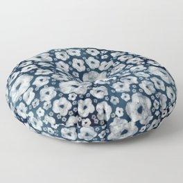 Mood indigo ditsy floral Floor Pillow