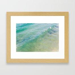 Peaceful Waves Framed Art Print