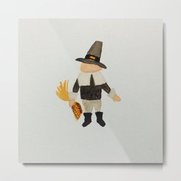 November Thanksgiving Pilgrim Puritan Baby Boy Toddler Metal Print