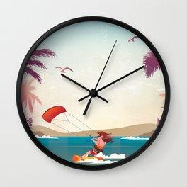 Kite surfer Woman Theme Wall Clock