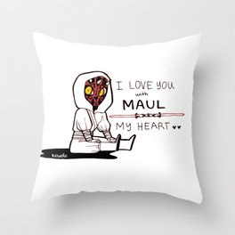 DARTH MAULENTINE Throw Pillow