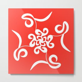 Vivid Volano Red Abstract Metal Print