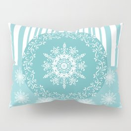 Frosty Snowflakes Coordinate Pillow Sham