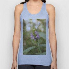 Purple Flowers in Sunrise (Vintage) Unisex Tank Top