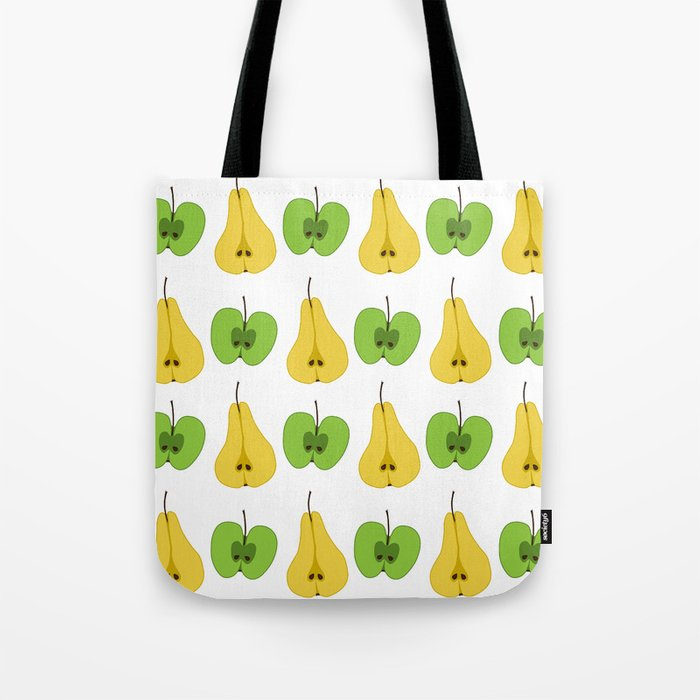 Apple and pear pattern Tote Bag
