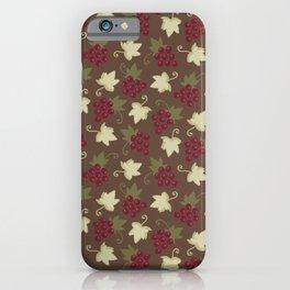 Sweet Grapevine on Milk Chocolate iPhone Case