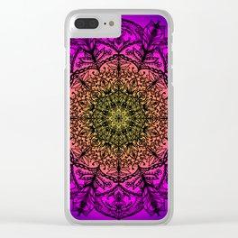 Delicate Mandala Clear iPhone Case