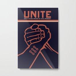 Unite Propaganda Poster Metal Print