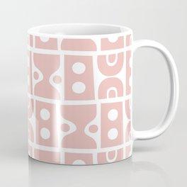 Funky Mid Century Modern Pattern Dusty Rose Coffee Mug