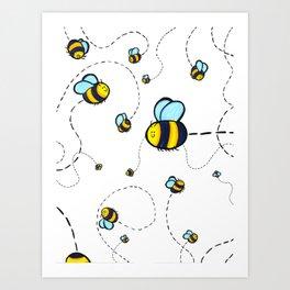 Bumble Pattern Art Print