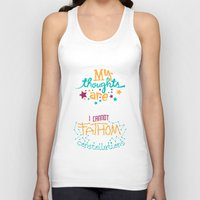 risa rodil Tank Tops featuring My Thoughts Are Stars by Risa Rodil