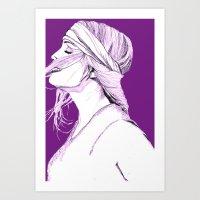 Purple Kyle Art Print