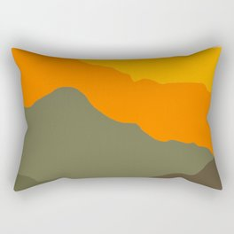 Sunset geometric landscape Rectangular Pillow