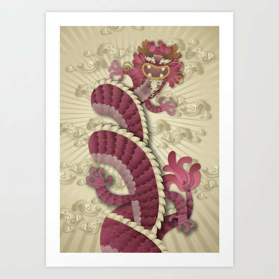 dragon delight Art Print