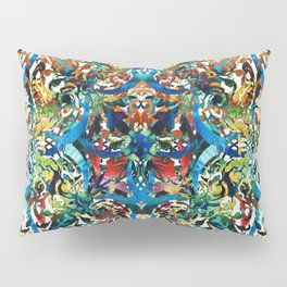 Bold Pattern Art - Color Fusion Design 8 By Sharon Cummings Pillow Sham