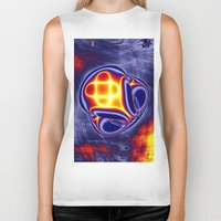 ufo Biker Tanks featuring ufo by donphil