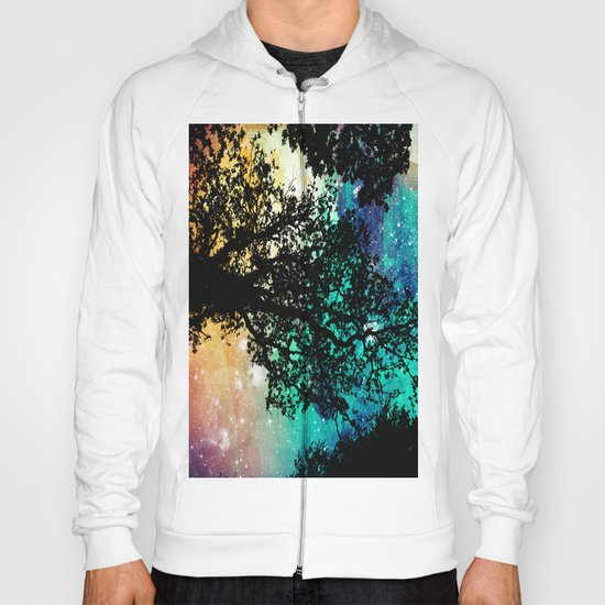 Black Trees Colorful Space by vintageby2sweet