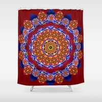 universe Shower Curtains featuring Universe  by LudaNayvelt