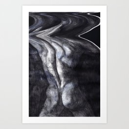 Pluto III glitch Art Print