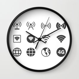 Internet Worldwide Wall Clock