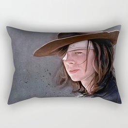 Carl Grimes Before The Fall - The Walking Dead Rectangular Pillow