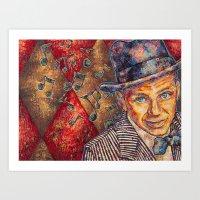 frank sinatra Art Prints featuring Frank Sinatra  by Sara Elyse Lehtman