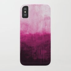 Paint 7 pink abstract painting ocean sea minimal modern bright colorful dorm college urban flat iPhone X Slim Case