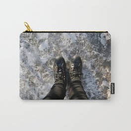 Snow Pattern, NYC Carry-All Pouch