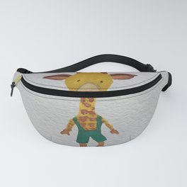 Giraffe Jungle Friends Baby Animal Water Color Fanny Pack