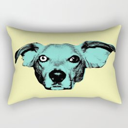 THE BUDDIE, BLUE Rectangular Pillow