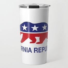 California Political Republican Bear  Travel Mug