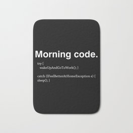 Morning Code Bath Mat
