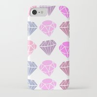 diamonds iPhone & iPod Cases featuring Diamonds by Jenny Viljaniemi