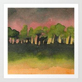 The Woods I Pink Art Print