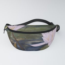 Watercolor Flower Water Lily Landscape Nature Fanny Pack