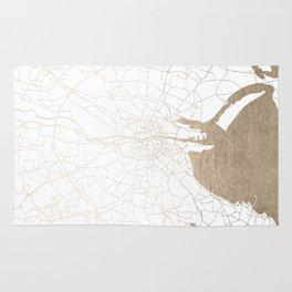 Dublin White on Gold Street Map II Rug
