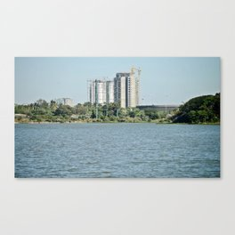 construction by the lake Canvas Print