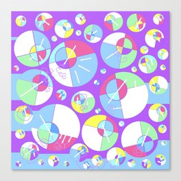 Bubble Purple Canvas Print