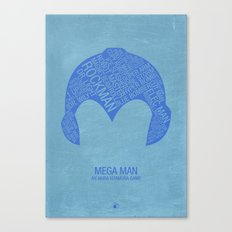 Mega Man Typography Canvas Print
