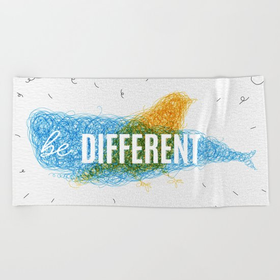 Be Different Beach Towel