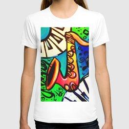 Sax and keys T-shirt