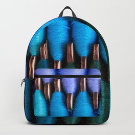 Spools of colorful sewing threads Backpack