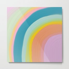 Painted Pastel Rainbow Metal Print