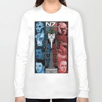 n7 Long Sleeve T-shirts featuring N7: The Male Squad by Alex Rodway Illustration