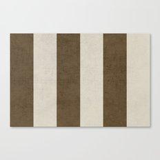 vintage brown stripes Canvas Print