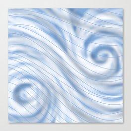 Blue Stripe on Blue Swirl Canvas Print