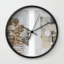 shrooms and milk Wall Clock
